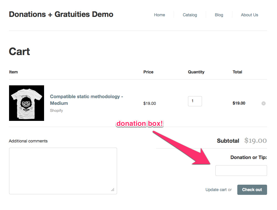 tetchi blog » Shopify Tutorial: Adding a Tip or Donation to