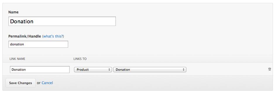 donation linklist