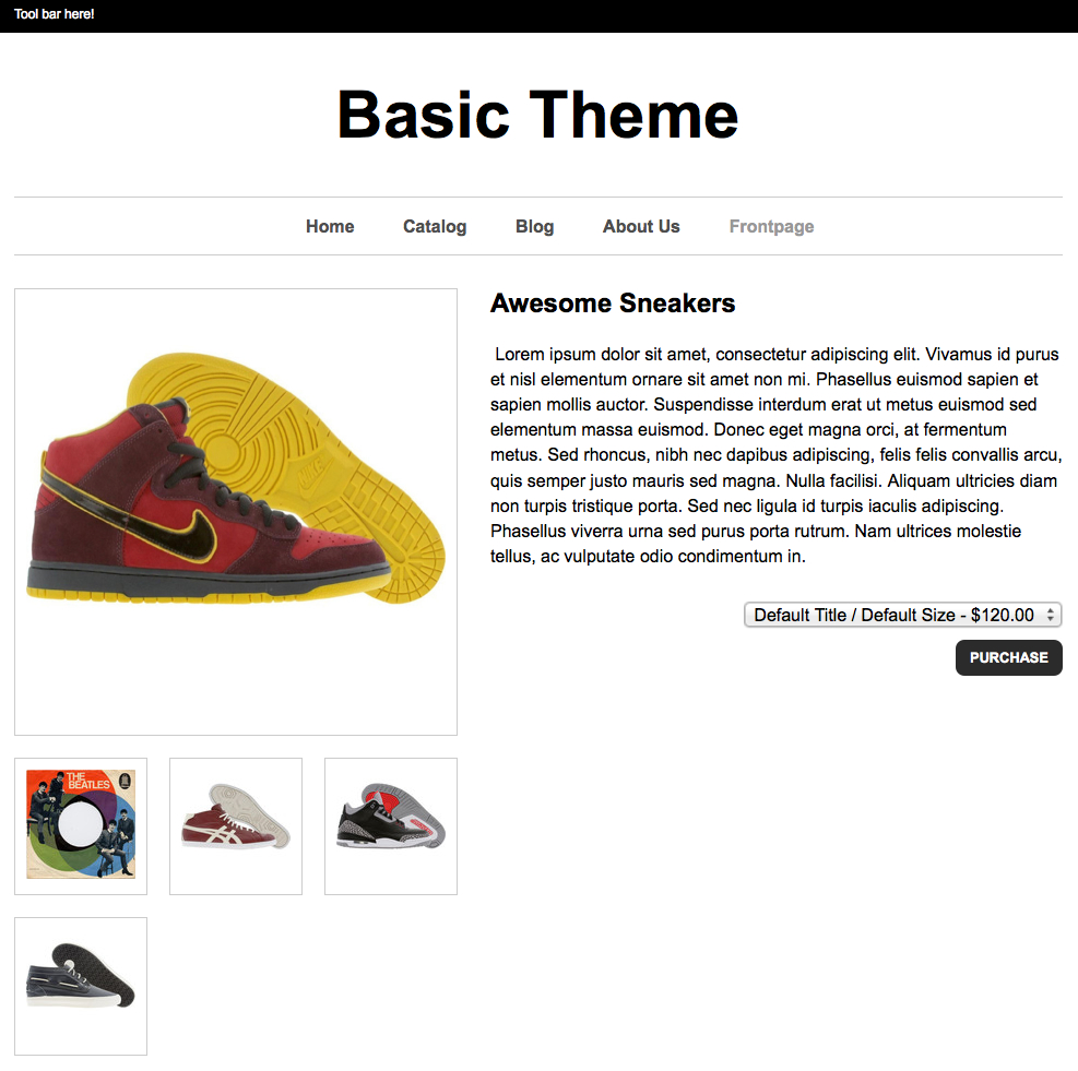 product page details