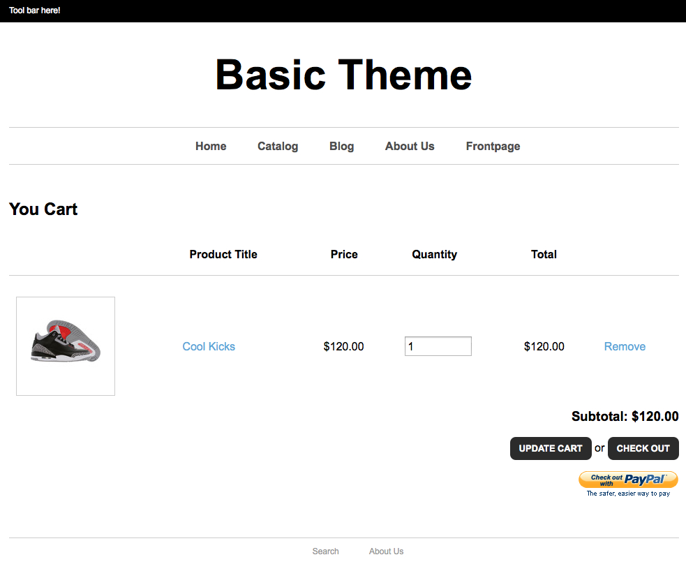 cart page complete