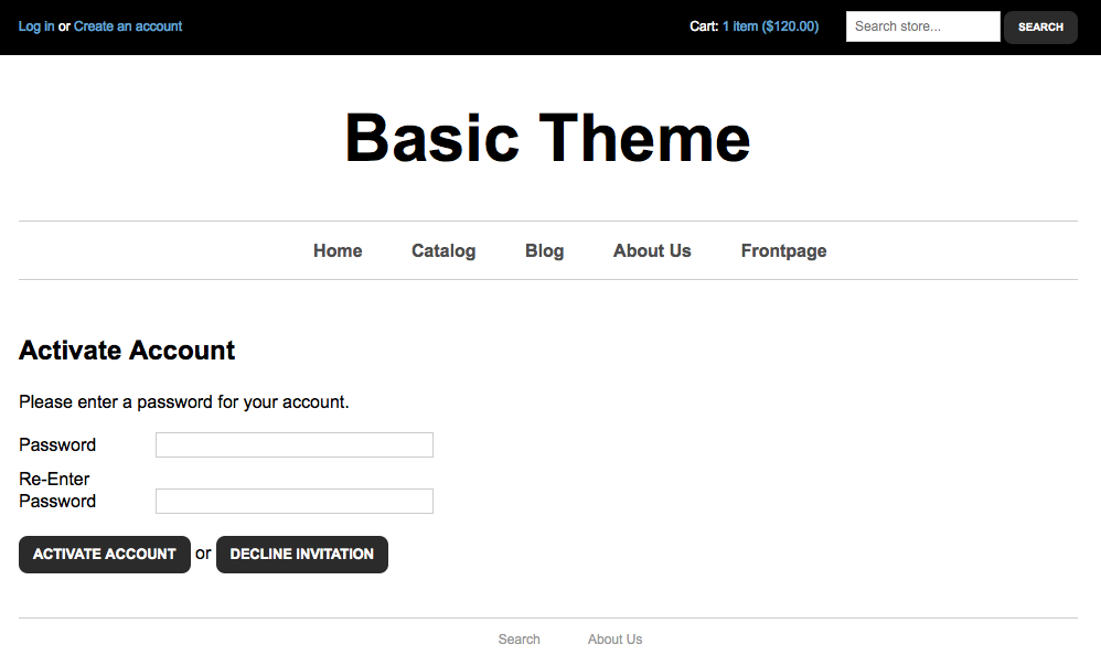 active account template