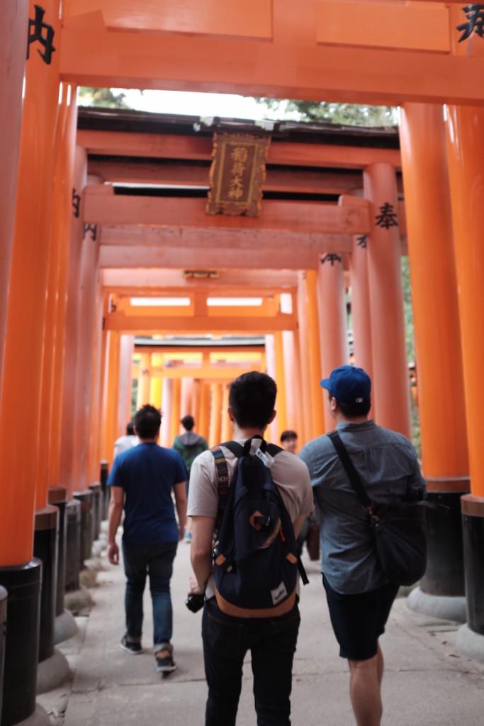 Hiking up Fushimi Inari