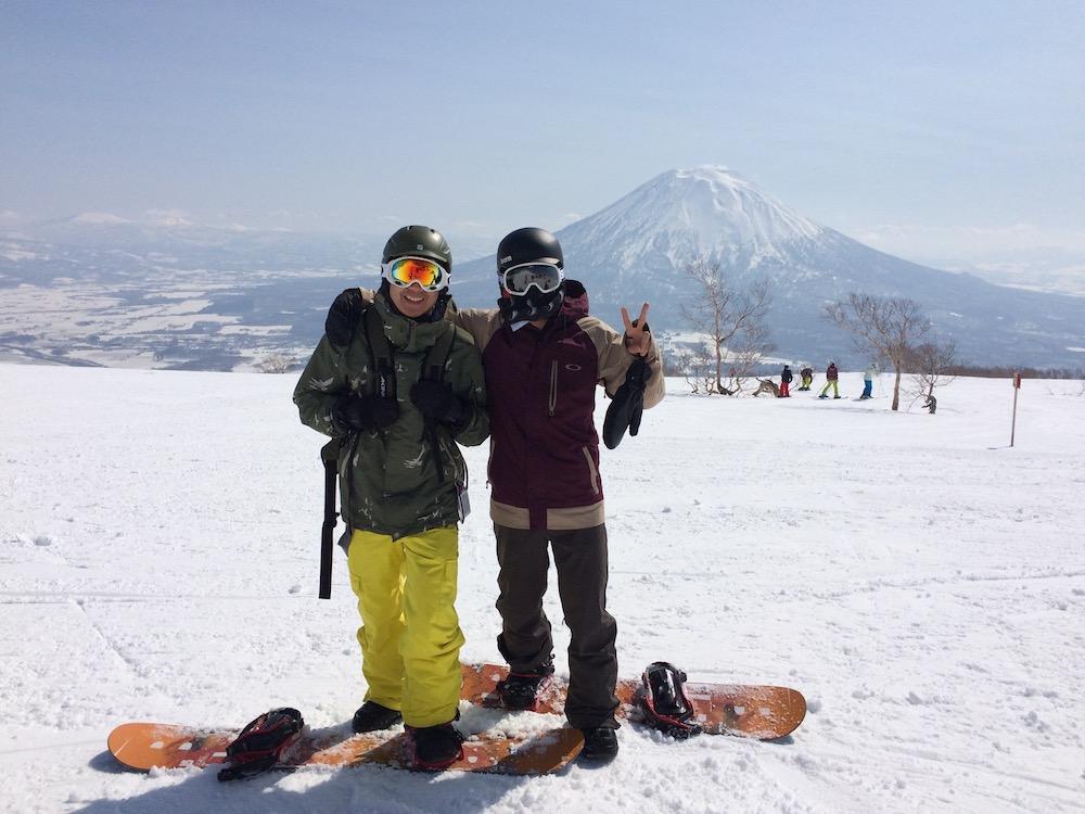 Snowboarding in beautiful Niseko, Hokkaido