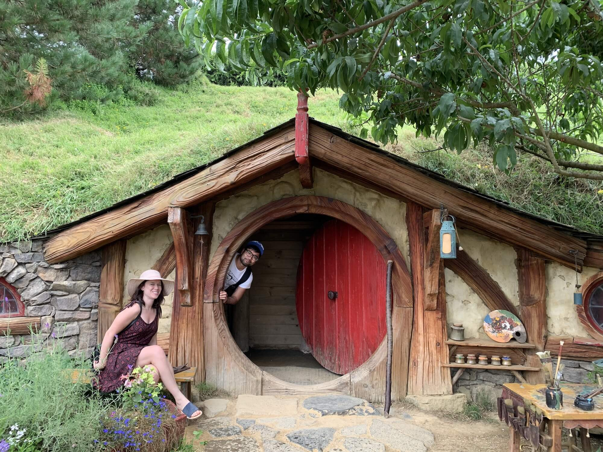 me and kylea in Hobbiton.