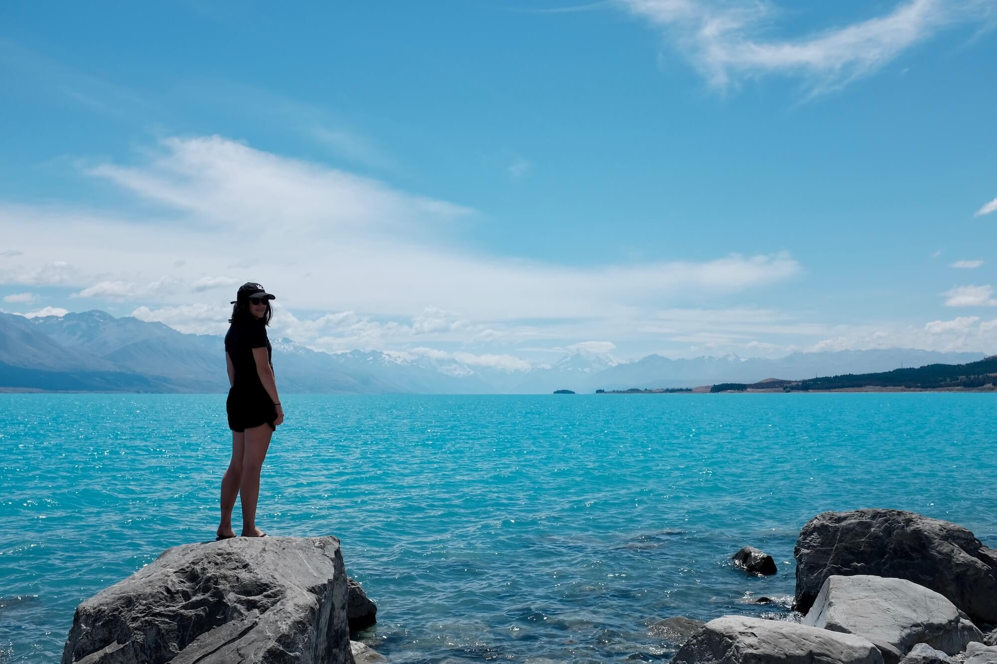 Kylea and Lake Pukaki